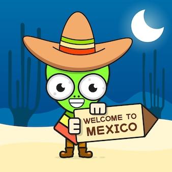 Illustration de crâne mexicain en dessin animé pour dia de los muertos