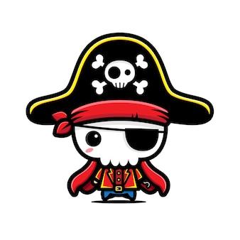 Illustration de crâne de pirate