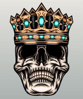 Illustration de crâne de roi.