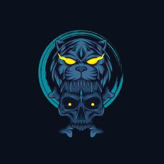 Illustration de crâne de tigre
