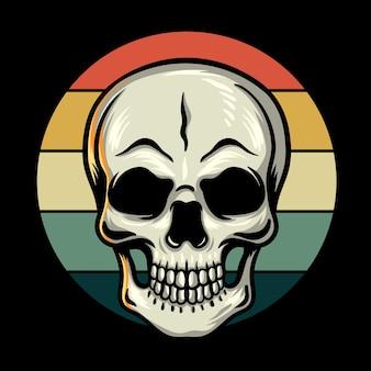 Illustration de crâne vintage