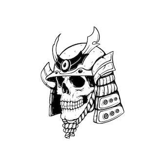 Illustration de crâne warior