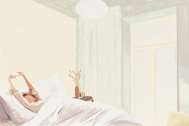 Illustration de crayon de couleur de fond de temps du matin