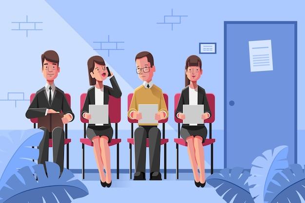 Illustration créative du concept de recrutement