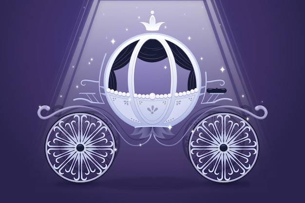 Illustration créative d'élégant chariot de conte de fées