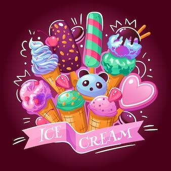 Illustration de crème glacée
