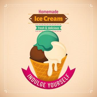 Illustration de la crème glacée