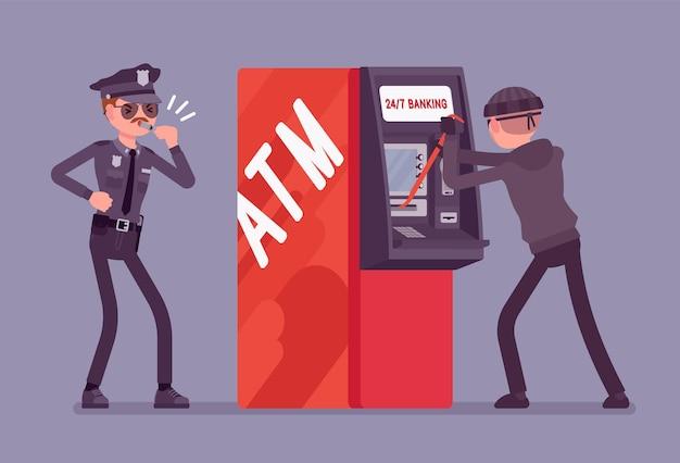 Illustration de crime de piratage atm