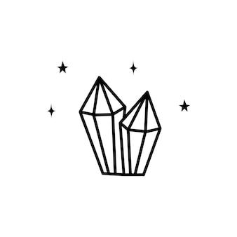 Illustration de cristal plat vecto