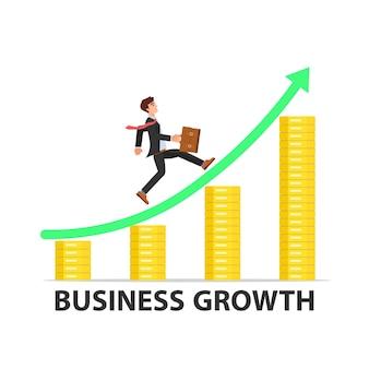Illustration de la croissance de l'homme d'affaires