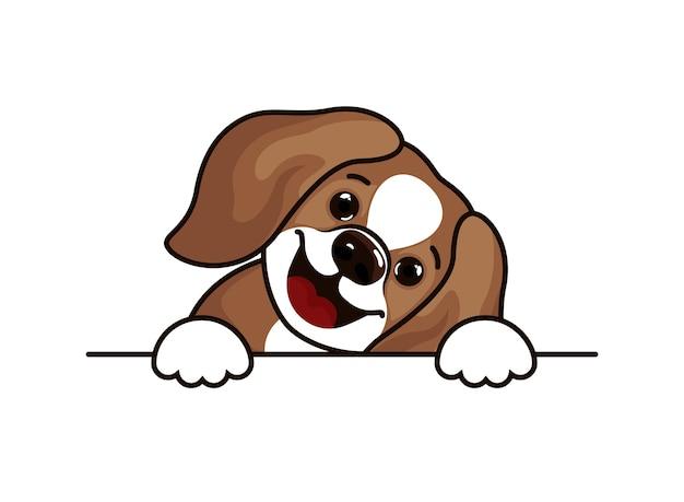 Illustration de croquis de tête de chien beagle chiot