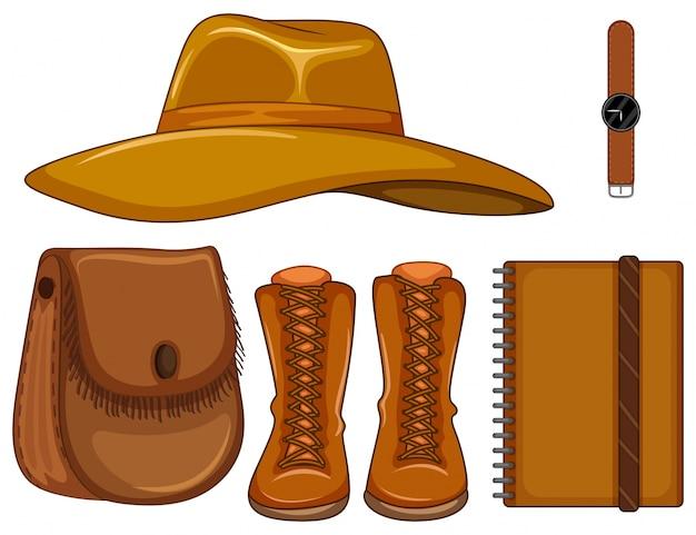 Illustration en cuir et accessoires