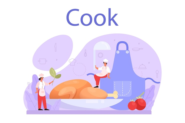 Illustration de cuisinier ou spécialiste culinaire