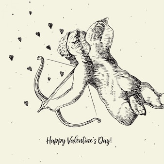 Illustration de cupidon mignon valentine