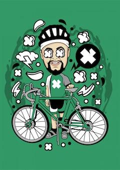 Illustration de cycliste