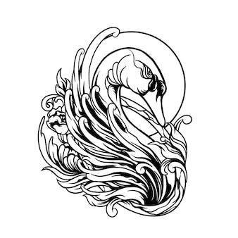 Illustration de cygne