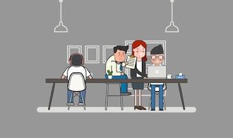 Illustration d'avatar de gens d'affaires