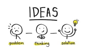 Illustration d'idées ampoule