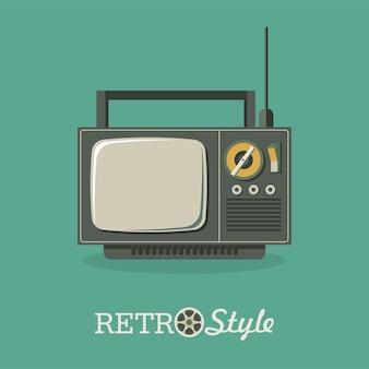 Illustration dans un style rétro. vieille télé. illustration vectorielle, logo, icône.