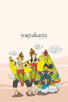 Illustration de danseur traditionnel javanais