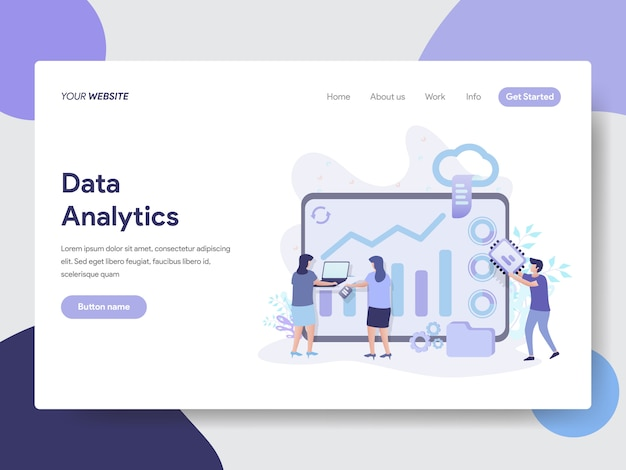 Illustration data analytics pour les pages web