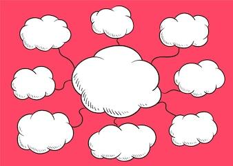 Illustration de bulle de discours nuage