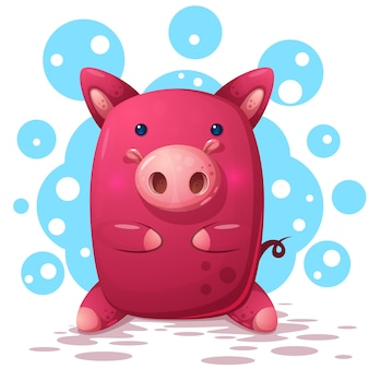 Illustration de cochon mignon
