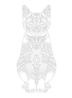 Illustration de coloriage animal adulte