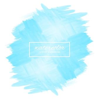 Illustration de design aquarelle abstrait bleu