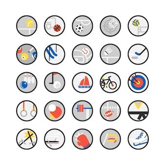 Illustration de jeu d'icônes de sport