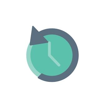 Illustration de l'icône de l'horloge inverse