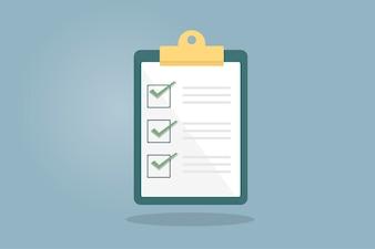 Illustration de la liste de tâches
