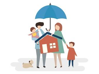 Illustration de la protection d'assurance habitation