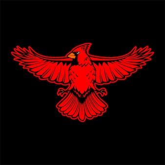 Illustration de logo cardinal oiseau