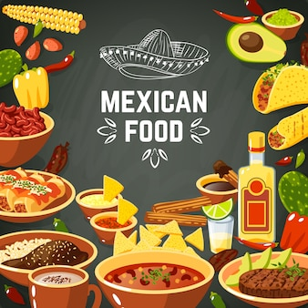 Illustration de nourriture mexicaine