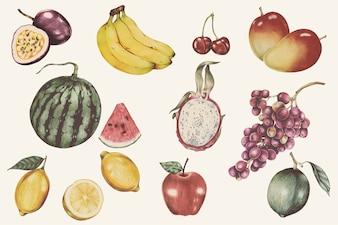 Illustration de style aquarelle de fruits tropicaux