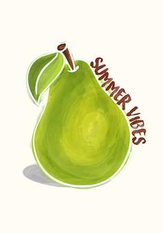 Illustration de vibes d'été Peary