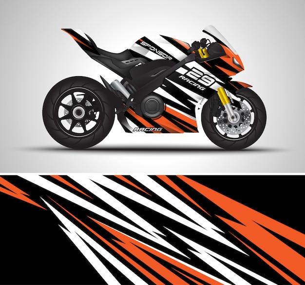 Illustration de décalque d'enveloppe de moto