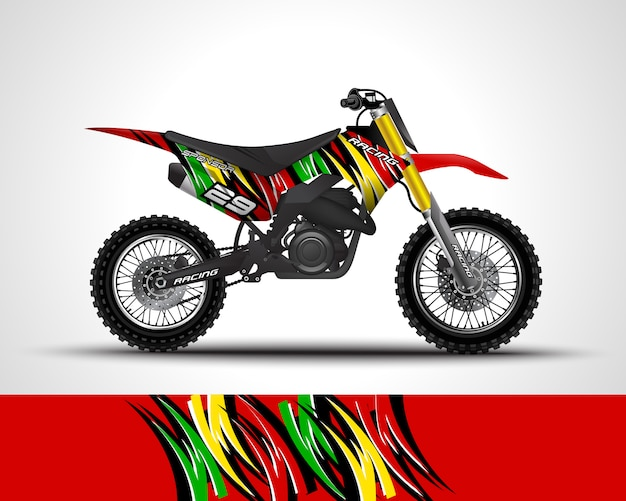 Illustration de décalque de motocross wrap