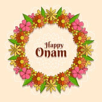 Illustration de décor floral onam