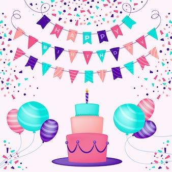 Illustration de décoration d'anniversaire
