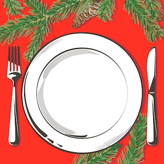 Illustration de la décoration de table de noël