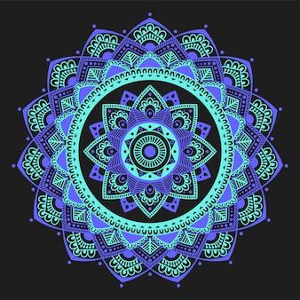 Illustration décorative de contour de fleur de mandala