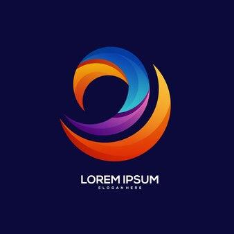 Illustration de dégradé coloré de logo d'entreprise
