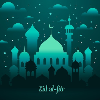 Illustration de dégradé eid al-fitr