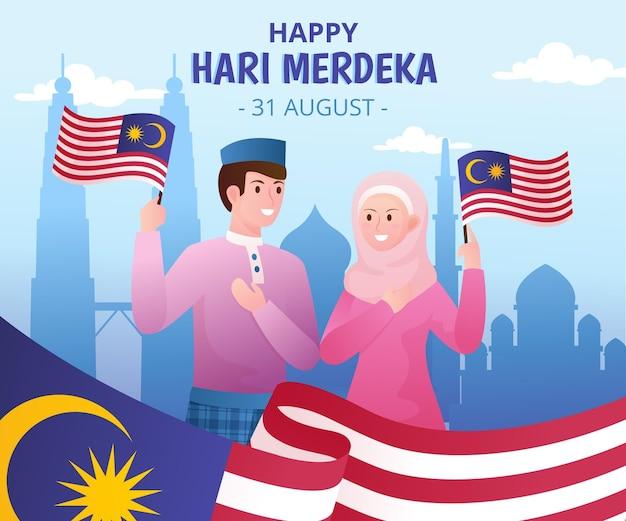 Illustration de dégradé hari merdeka