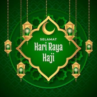 Illustration de dégradé hari raya haji