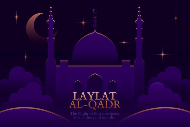 Illustration De Dégradé Laylat Al-qadr Vecteur gratuit