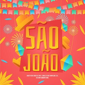 illustration de dégradé de sao joao