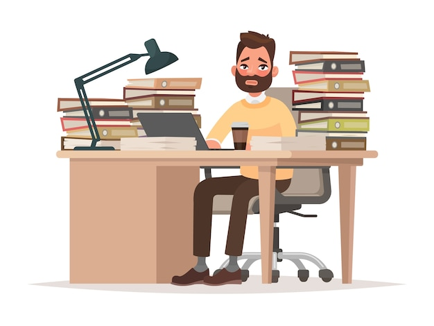 Illustration des délais au travail